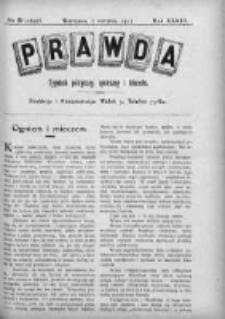 Prawda. Tygodnik polityczny, społeczny i literacki 1913, Nr 31
