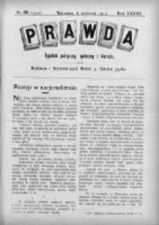 Prawda. Tygodnik polityczny, społeczny i literacki 1913, Nr 36
