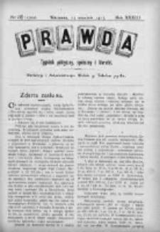 Prawda. Tygodnik polityczny, społeczny i literacki 1913, Nr 37