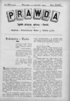 Prawda. Tygodnik polityczny, społeczny i literacki 1913, Nr 39