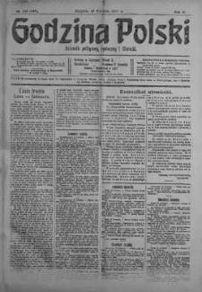 Godzina Polski : dziennik polityczny, społeczny i literacki 22 kwiecień 1917 nr 108