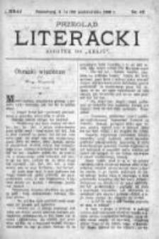 """Przegląd Literacki. Dodatek do """"Kraju"""" tygodnika polityczno-społecznego wydawanego w Petersburgu od roku 1882. 1888, nr 42"""