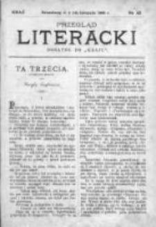 """Przegląd Literacki. Dodatek do """"Kraju"""" tygodnika polityczno-społecznego wydawanego w Petersburgu od roku 1882. 1888, nr 45"""