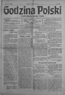 Godzina Polski : dziennik polityczny, społeczny i literacki 5 maj 1917 nr 121