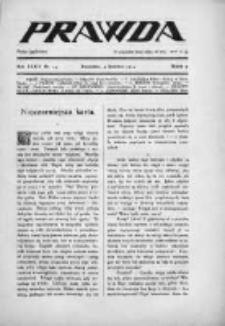 Prawda. Tygodnik polityczny, społeczny i literacki 1914, Nr 14