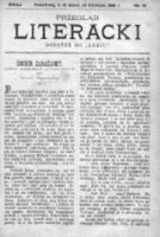 """Przegląd Literacki. Dodatek do """"Kraju"""" tygodnika polityczno-społecznego wydawanego w Petersburgu od roku 1882. 1889, nr 13"""