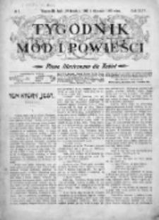 Tygodnik Mód i Powieści. Pismo ilustrowane dla kobiet 1902, Nr 1
