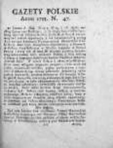 Gazety Polskie 1735, Nr 47