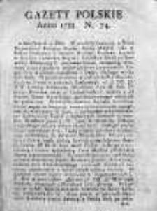 Gazety Polskie 1735, Nr 74