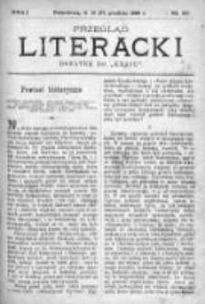 """Przegląd Literacki. Dodatek do """"Kraju"""" tygodnika polityczno-społecznego wydawanego w Petersburgu od roku 1882. 1889, nr 50"""
