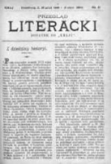 """Przegląd Literacki. Dodatek do """"Kraju"""" tygodnika polityczno-społecznego wydawanego w Petersburgu od roku 1882. 1889, nr 51"""