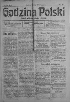 Godzina Polski : dziennik polityczny, społeczny i literacki 27 maj 1917 nr 143