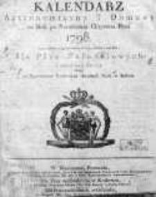 Kalendarz Astronomiczny i Domowy... dla Prus Południowych i sąsiedzkich okolic... 1798