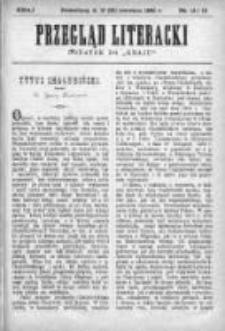 """Przegląd Literacki. Dodatek do """"Kraju"""" tygodnika polityczno-społecznego wydawanego w Petersburgu od roku 1882. 1890, nr 14-15"""