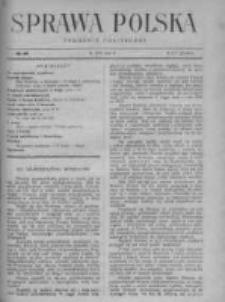 Sprawa Polska. Tygodnik polityczny 1916, R. 2, Tom II, Nr 49