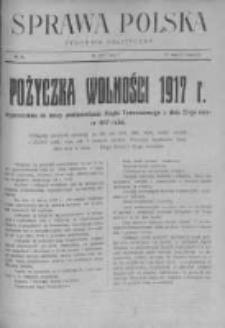 Sprawa Polska. Tygodnik polityczny 1917, R. 3, Tom I, Nr 19