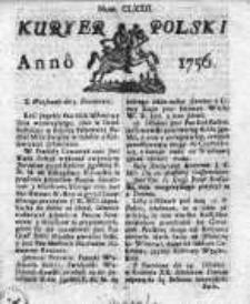 Kuryer Polski 1756, Nr 172