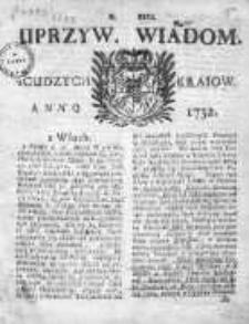 Uprzywilejowane Wiadomości z Cudzych Krajów 1732, Nr 121