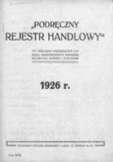 Podręczny Rejestr Handlowy 1926