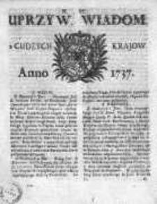 Uprzywilejowane Wiadomości z Cudzych Krajów 1737, Nr 6