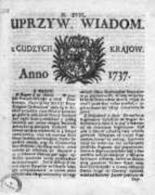 Uprzywilejowane Wiadomości z Cudzych Krajów 1737, Nr 18