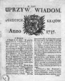 Uprzywilejowane Wiadomości z Cudzych Krajów 1737, Nr 22