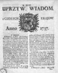 Uprzywilejowane Wiadomości z Cudzych Krajów 1737, Nr 26