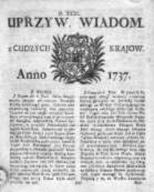 Uprzywilejowane Wiadomości z Cudzych Krajów 1737, Nr 31