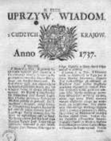 Uprzywilejowane Wiadomości z Cudzych Krajów 1737, Nr 32