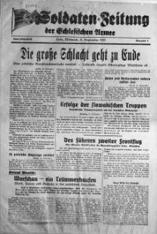 Soldaten = Zeitung der Schlesischen Armee 13 September 1939 nr 7