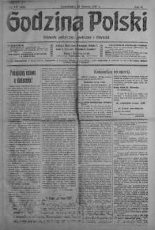 Godzina Polski : dziennik polityczny, społeczny i literacki 25 czerwiec 1917 nr 171