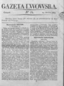 Gazeta Lwowska 1837 z dodatkiem, Nr 75