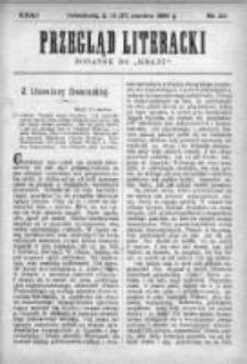 """Przegląd Literacki. Dodatek do """"Kraju"""" tygodnika polityczno-społecznego wydawanego w Petersburgu od roku 1882. 1890, nr 24"""