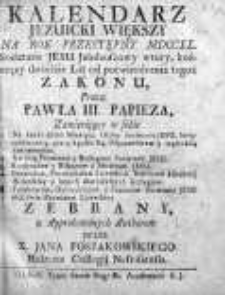 Kalendarz Jezuicki Wiekszy... zebrany... przez Jana Poszakowskiego 1740