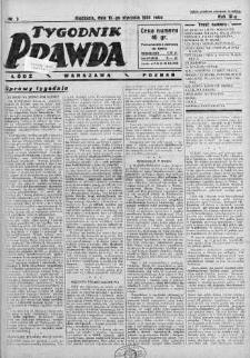 Tygodnik Prawda 15 styczeń 1933 nr 3