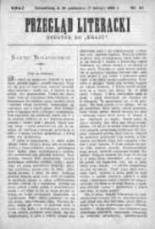 """Przegląd Literacki. Dodatek do """"Kraju"""" tygodnika polityczno-społecznego wydawanego w Petersburgu od roku 1882. 1890, nr 43"""