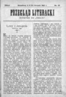 """Przegląd Literacki. Dodatek do """"Kraju"""" tygodnika polityczno-społecznego wydawanego w Petersburgu od roku 1882. 1890, nr 45"""