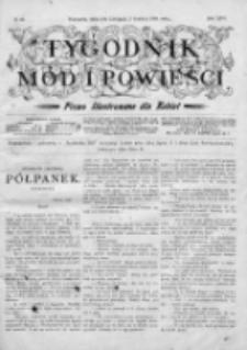 Tygodnik Mód i Powieści. Pismo ilustrowane dla kobiet 1904, Nr 49