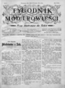 Tygodnik Mód i Powieści. Pismo ilustrowane dla kobiet 1905, Nr 4