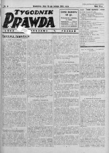 Tygodnik Prawda 19 luty 1933 nr 8