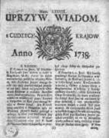 Uprzywilejowane Wiadomości z Cudzych Krajów 1738, Nr 79