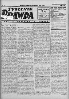 Tygodnik Prawda 23 kwiecień 1933 nr 17