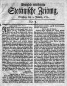 Stettinische Zeitung. Königlich privilegirte 1759, Nr 3