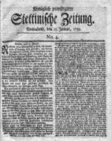 Stettinische Zeitung. Königlich privilegirte 1759, Nr 4