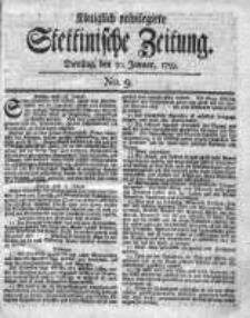 Stettinische Zeitung. Königlich privilegirte 1759, Nr 9