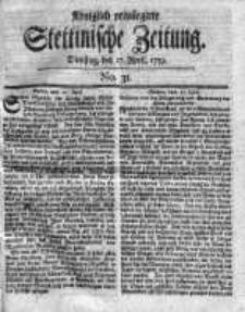 Stettinische Zeitung. Königlich privilegirte 1759, Nr 31