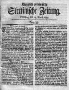 Stettinische Zeitung. Königlich privilegirte 1759, Nr 33