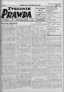Tygodnik Prawda 28 maj 1933 nr 22