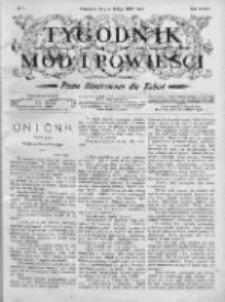 Tygodnik Mód i Powieści. Pismo ilustrowane dla kobiet 1906, Nr 7