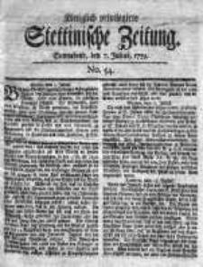 Stettinische Zeitung. Königlich privilegirte 1759, Nr 54
